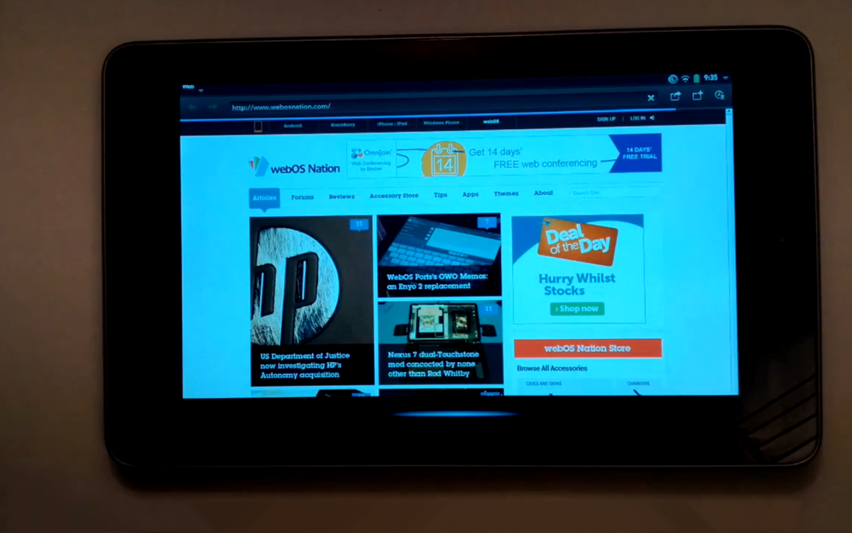 WebOS Ports gets Open webOS up and running on the Google Nexus 7 [video]